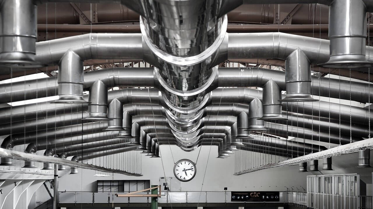 industry, hall, ventilation